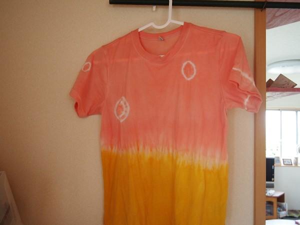Tシャツの2色染